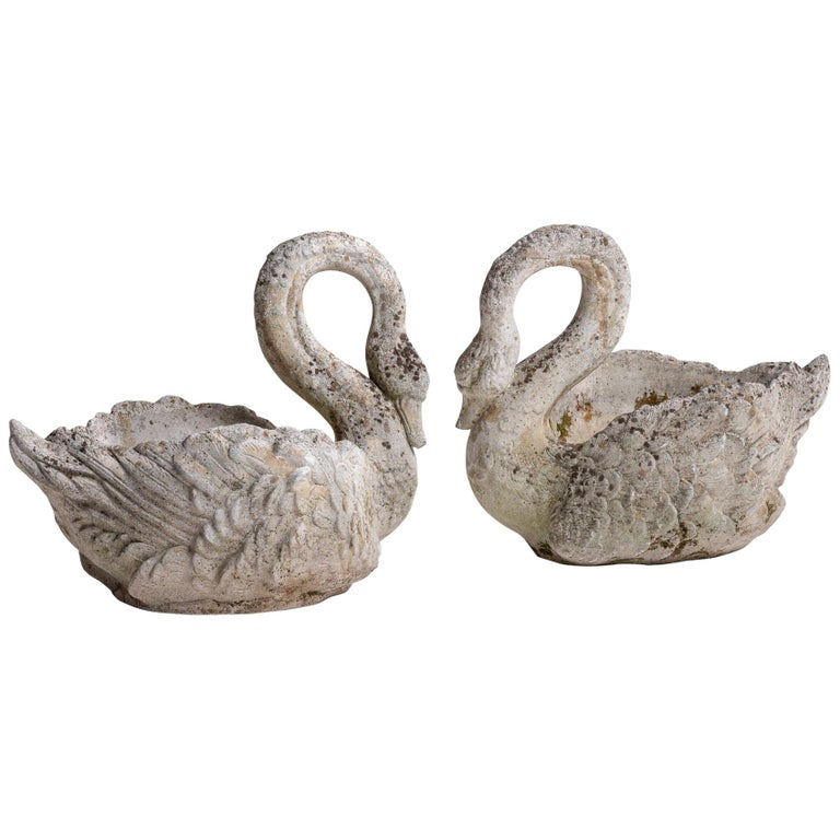 Cement Garden Swan Planter France Circa 1930 For Sale At 1stdibs
