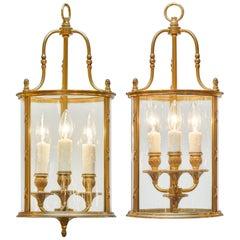 Bronze Louis XVI Style Lanterns