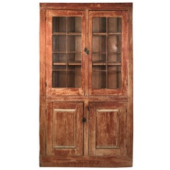 19th Century New England Country Corner Cupboard, circa 1840