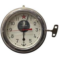 Vintage Soviet Era Submarine Wall Clock, 1960s