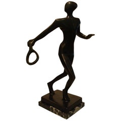 20th Century Tennis Player Bronze Sculpture / Trophy, Italy, 1930s