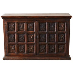 Spanish Baroque Style Two-Door Cabinet or Sideboard