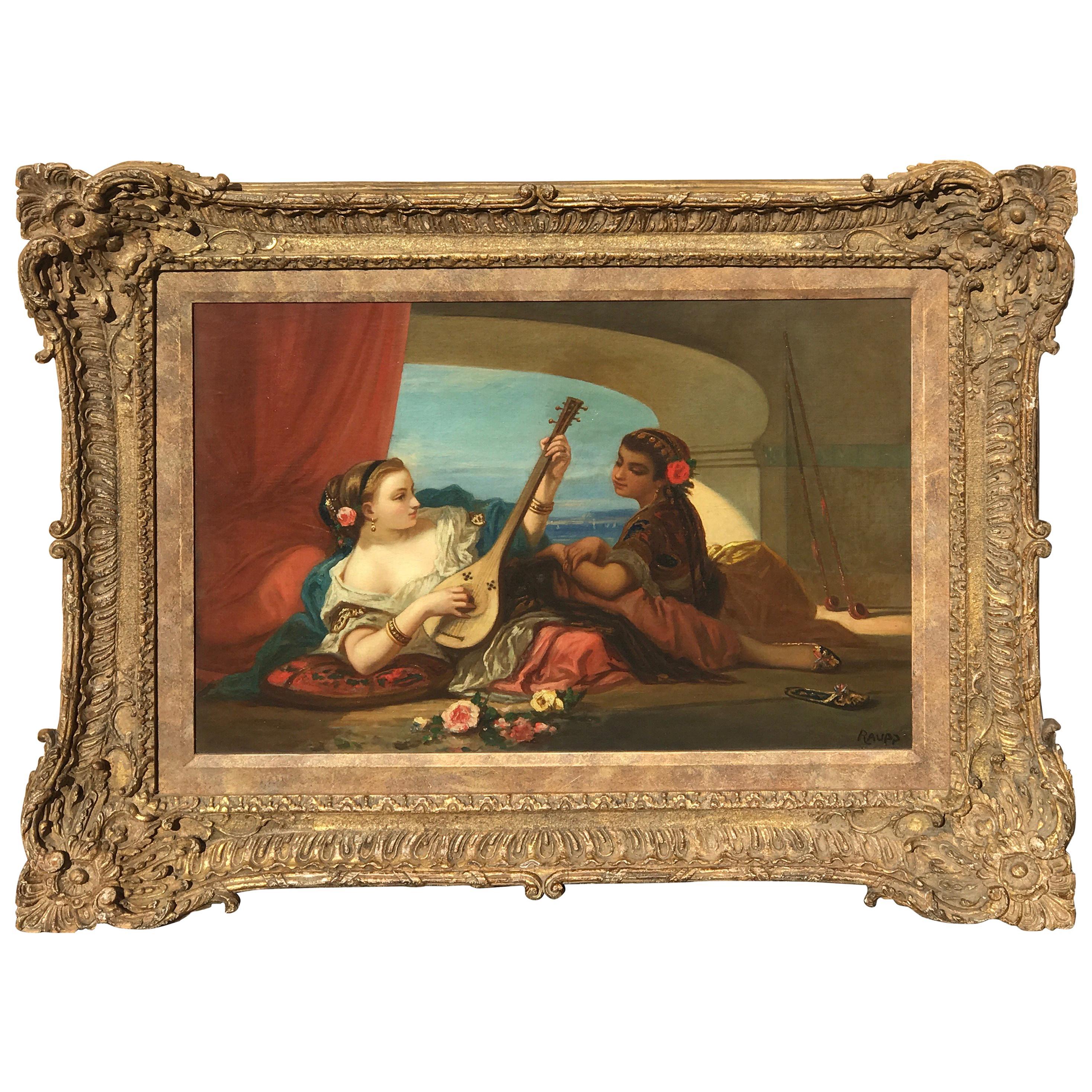 Orientalist Oil on Canvas, Signed Raupp