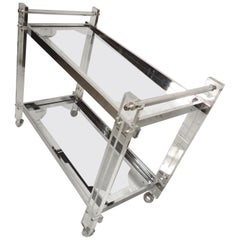 Lucite Mid-Century Bar Cart