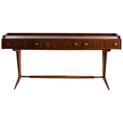 Italian Mid Century Three Drawer Desk
