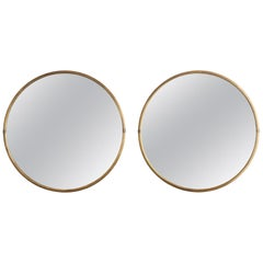 Round Brass Mirror, England circa 1950