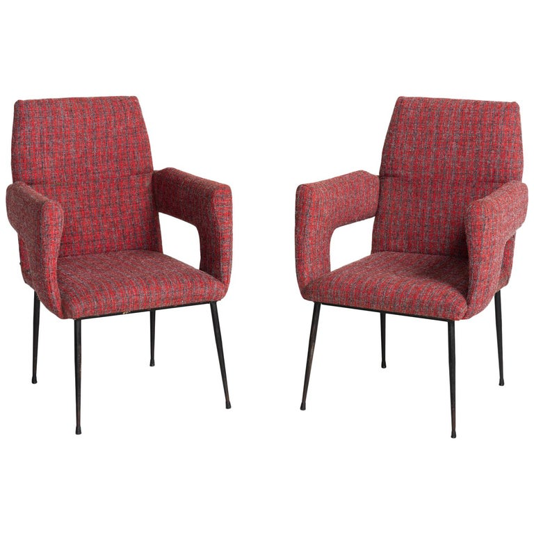 Modern Armchairs, Italy circa 1950 For Sale