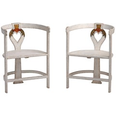 Rare Pair of Artists Chairs, Sweden, circa 1910