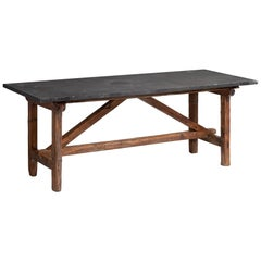 Primitive Slate Table, France, circa 1930