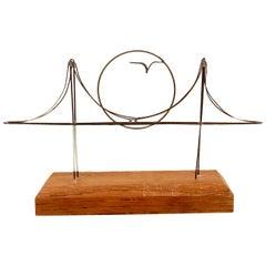 Whimsical Golden Gate Bridge Wire Sculpture Mid Century