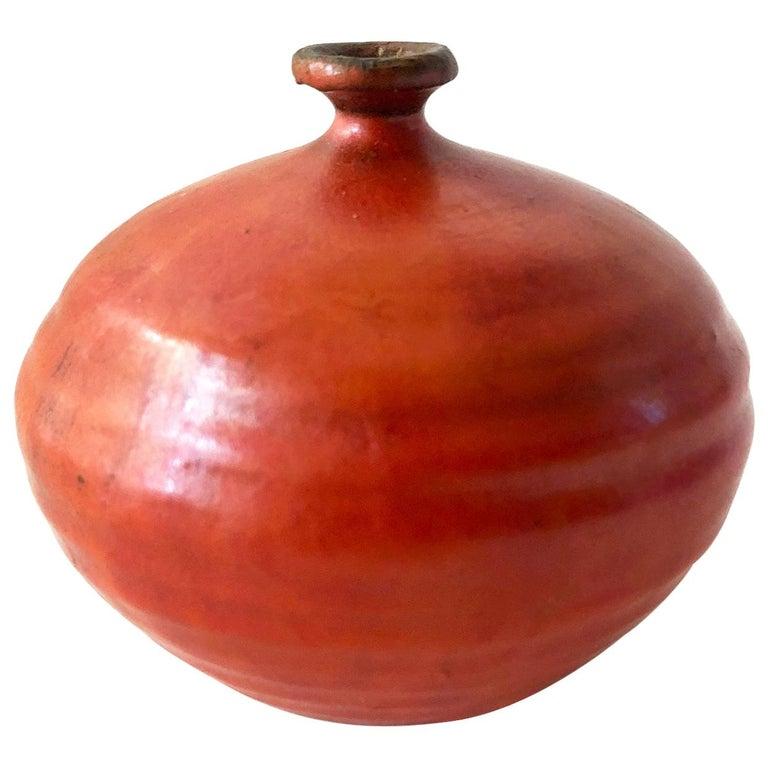 Doyle Lane Stoneware California Studio Pottery Weed Vase For Sale