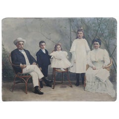 19th Century Italian Oil Painting on Canvas Portrait of a Rich Family
