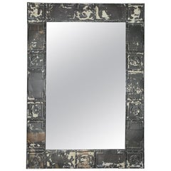 Industrial Style Tin Ceiling Tile Mirror