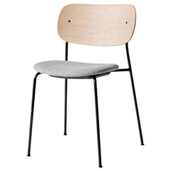 Co Chair, Natural Oak Seat 'Grey 130' /Black Legs