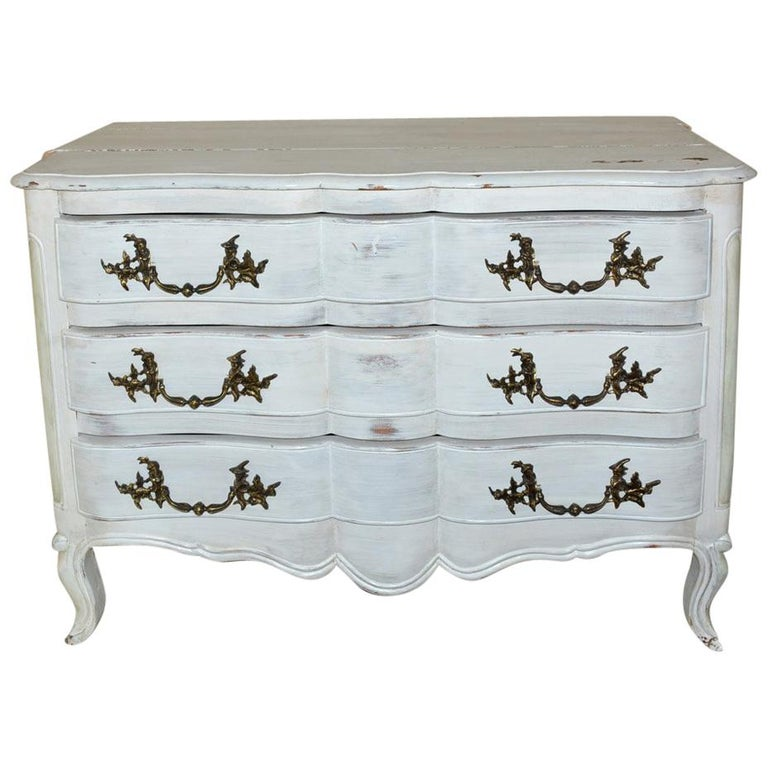 Louis XV-Style Painted Dresser For Sale