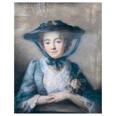 "John Russell 1745-1806 Pastel Portrait of  ""Miss Felicity Page"""