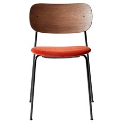 Co Chair, Dark Stained Oak Back, Red Seat , Black Legs