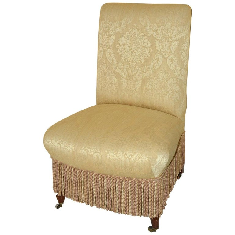 Napoleon III Style Slipper Chair For Sale