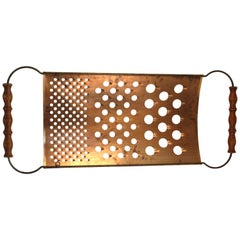 Curtis Jere Oversized Cheese Grater Wall Sculpture