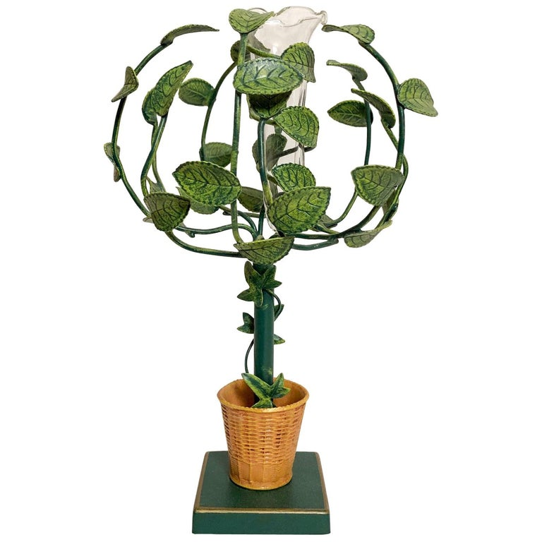 Petite Choses Tole Bud Vase Topiary For Sale