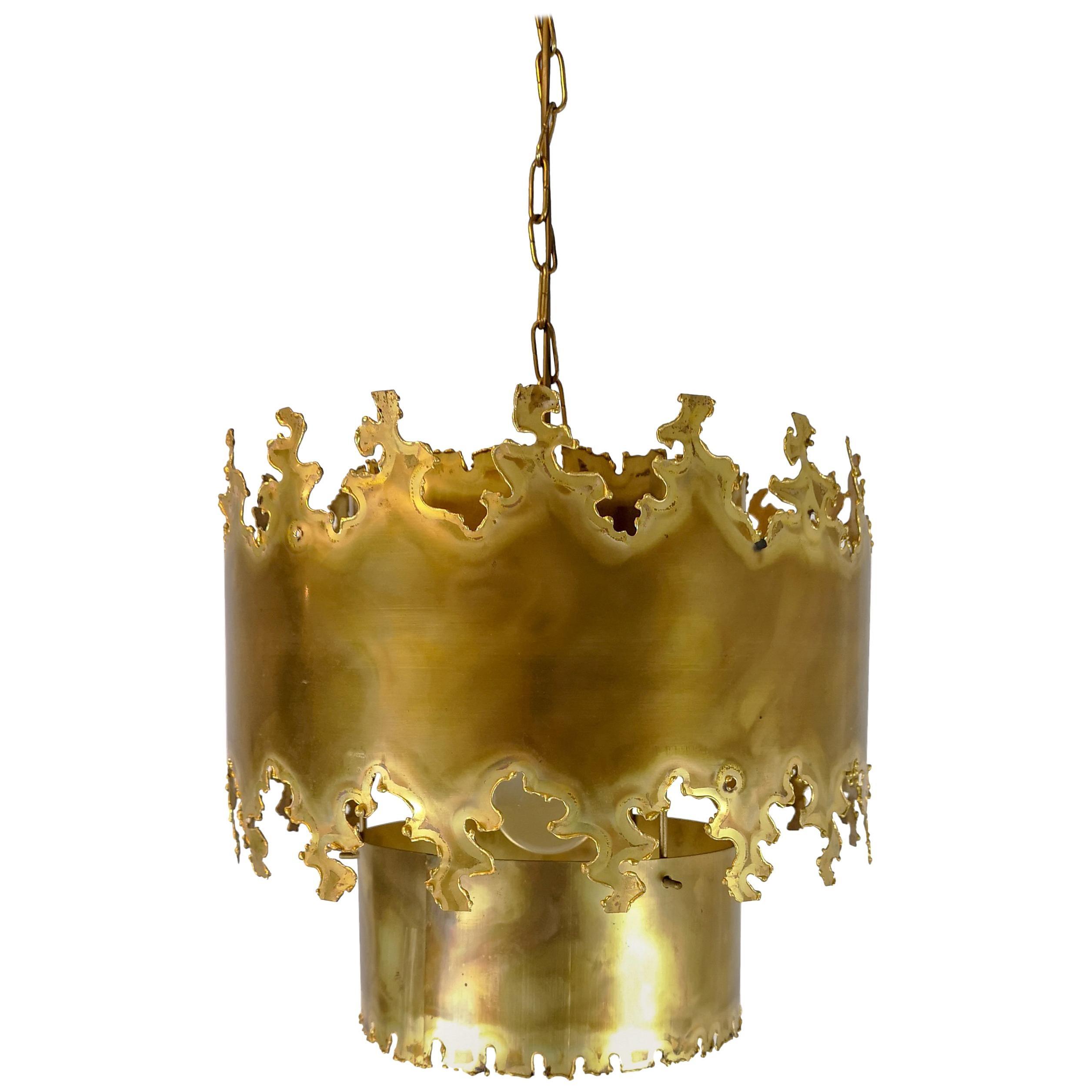 Svend Aage Holm Sorensen Brutalist Ceiling Lamp 1960s for Holm Sorensen & Co