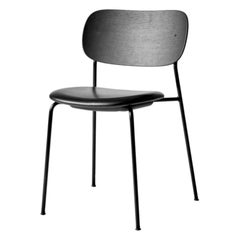 Co Chair, Black Oak Back, Dakar (0842) Seat, Black Legs