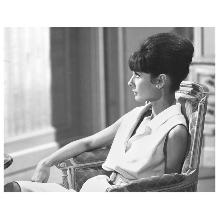 Audrey Hepburn, Vintage Photograph by Vincent Rossell, Paris, 1962 For Sale