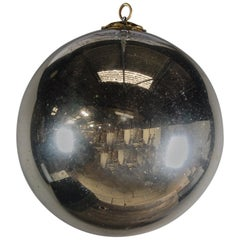 Large 19th Century Mercury Glass Witches Ball