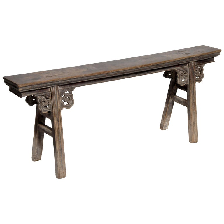 Middle Qing Dynasty Chinese Bench Century For Sale