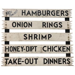 Vintage Hand Painted Wood Sign
