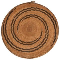 Mid-20th Century Woven Presentation Plate 'Agakoko', Tutsi People, Rwanda