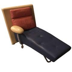 Leather Chaise by Gamma Arredamenti
