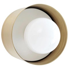 Spun Sconce Flush Mount Brass