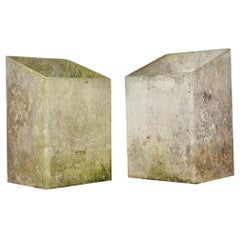 Pair of Willy Guhl Angular Box Planters