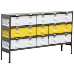 Custom Made Locker Basket Unit with Specialty Double-Wide Baskets