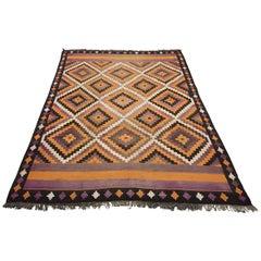 1940 Afghan Meymaneh Wool Rug