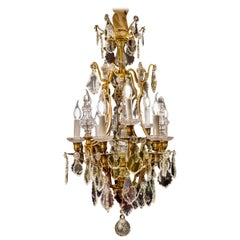 By Baccarat, French Louis XV Style, Gilt-Bronze and Cut-Crystal Chandelier