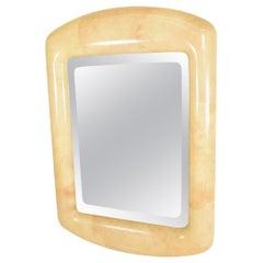 Mid-Century Modern Goatskin Mirror after Karl Springer by Robert Scott & Assoc.