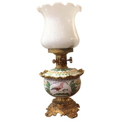 Italian Porcelain Table Oil Lamp by Mangani Firenze, 1970