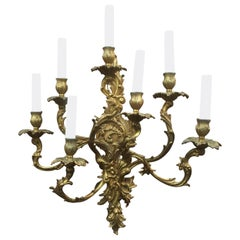 French Louis XV Style Gilt Bronze Sconce
