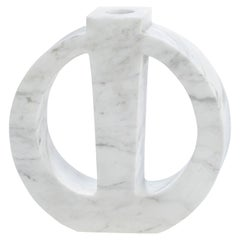 "Contemporary Handcrafted Candle Holder ""Phanes"" in Marble, 1stdibs New York"