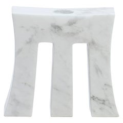 "Contemporary Handcrafted Candle Holder ""Morpheus"" in Marble, 1stdibs New York"