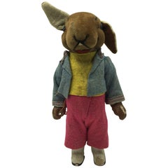 Rabbit Toy Made of Textile and Carton, US, 1950s