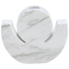 "Contemporary Handcrafted Candle Holder ""Oizys"" in Marble, 1stdibs New York"