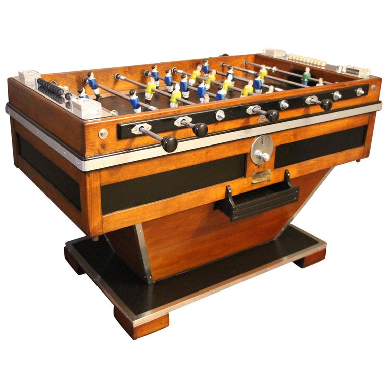 Midcentury French Foosball Table For Sale
