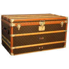 1930s Louis Vuitton Monogram Steamer Trunk, Malle Louis Vuitton