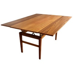 Midcentury Swedish Adjustable Teak Coffee or Dining Table from Emmaboda, 1957
