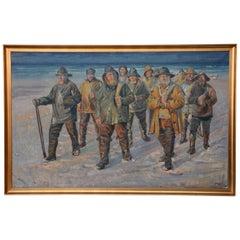 "Gunnar Bundgaard 'after Michael Ancher' ""Fishermen, Returning Home"""