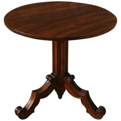 French Gothic Tilt-Top Mahogany Lamp or Side Table