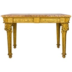 Gilt Wooden Console, 18th Century, Italy